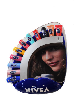 nivea lipstic cash tray vacum formed